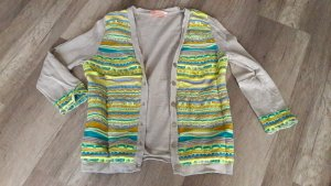 Matthew Williamson Cardigan Strickjacke Jäckchen Nude Neon