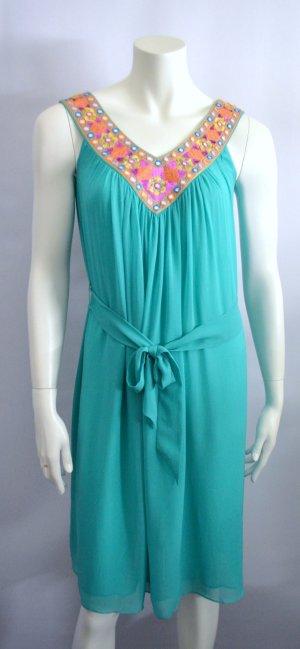 Matthew Williamson for H&M Sommer Kleid Silk Türkis