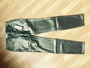 Matthew Williamson goldbeschichtete Jeans Gr. 36