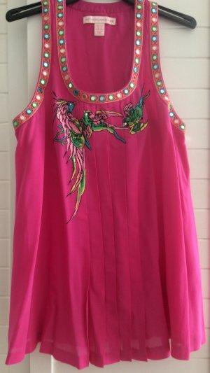 Matthew Williamson H&M Bluse Tunika Top Seide Gr 34 XS Neu Pink limitiert