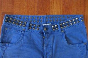 Matthew Williamson H M Jeans königsblau blau Nieten W32 (Damen 40-42)