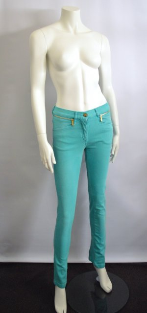 Matthew Williamson Jeans Mint Gold XS New