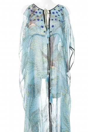 Matthew williamson Kaftan cadet blauw-groen bloemenprint Beach-look