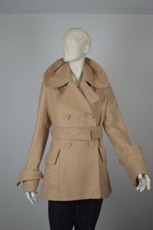 Matthew Williamson Mantel Wolle Luxus w neu Gr. 36 beige, NP 800€