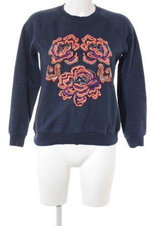 Matthew Williamson Rundhalspullover flower embroidery