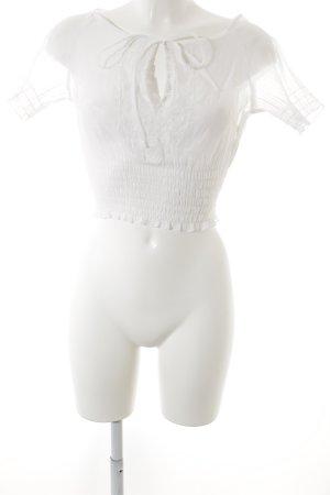 Mattina Camicetta a maniche corte bianco elegante