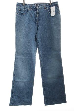 Mattiolo Straight-Leg Jeans blau Casual-Look