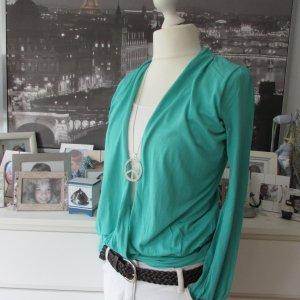 Maui Wowie * Cooles 2in1 Shirt Lagen Shirt * smaragd grün weiß Wickeloptik * XL=40/42