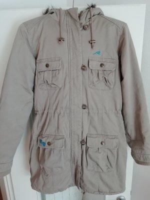 Maui Wowie Manteau d'hiver gris brun-brun sable coton