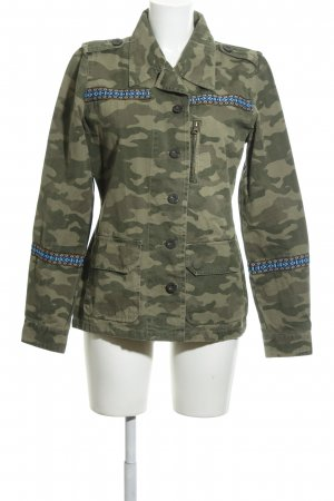 Maui Wowie Militair jack khaki camouflageprint casual uitstraling