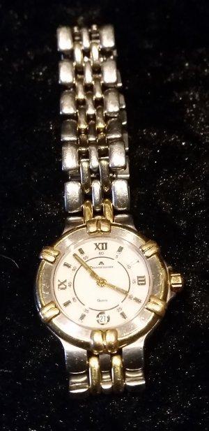 Orologio con cinturino di metallo grigio chiaro-oro Acciaio pregiato