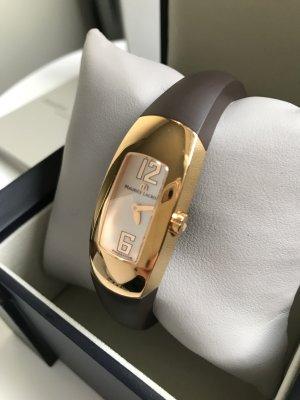 Fibbia orologio oro-marrone scuro Oro