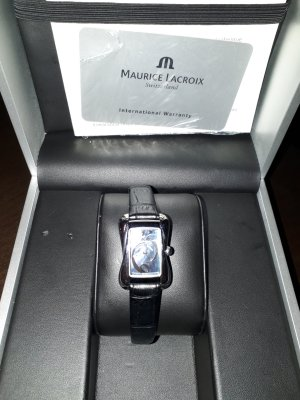 Maurice Lacroix Watch With Leather Strap black-dark violet