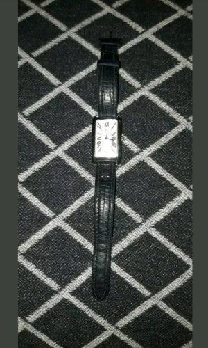 Maurice Lacroix Reloj con pulsera de cuero negro-color plata