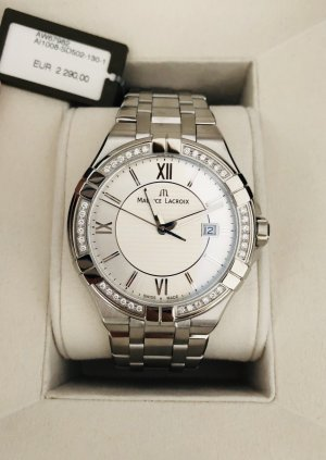 Maurice Lacroix Watch With Metal Strap silver-colored