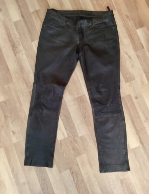 Mauritius Leather Trousers dark brown-brown leather