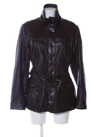 Mauritius Leather Coat black casual look
