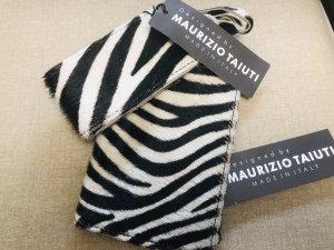 Maurizio Taiuti ITALY Leder Reisepass Hülle + Koffer Anhänger Zebra Neu