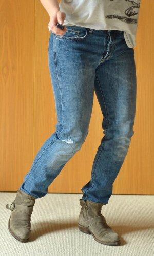 MAURO GRIFONI 29/32 straight leg slim used look verwaschen Etikett NEU destroyed