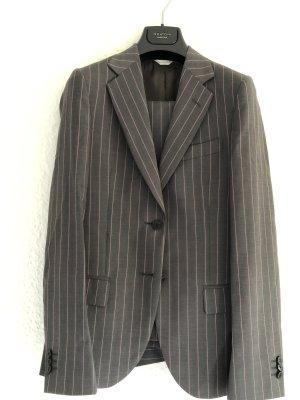 Mauro Grifoni Tailleur-pantalon gris anthracite-or rose