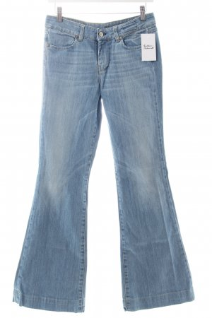 Mauro Grifoni Boot Cut Jeans hellblau Casual-Look