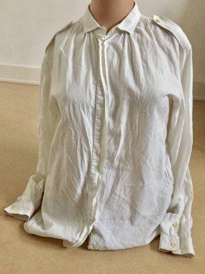 Mauro Grifoni * schlichte weiße Hemdbluse * 100% Baumwolle