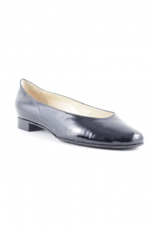 Mauro Teci Patent Leather Ballerinas black elegant