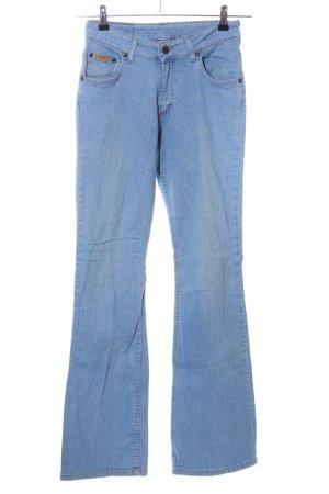 Maverick Jeans a zampa d'elefante blu stile casual