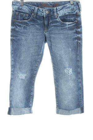 Mavi Jeans 3/4 bleu foncé style seconde main