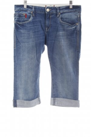 Mavi Jeans 3/4 bleu acier style décontracté
