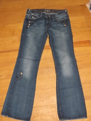 MAVI Boot Cut Jeans mit Stickerei + Pailetten Gr. 29/34