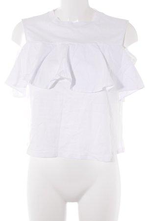 Mavi Top cut out blanco estilo romántico