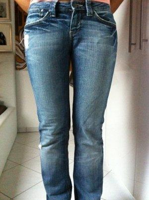 MAVI Damen Jeans Hose Gr.26/34 Wie Neu Strass Used Look