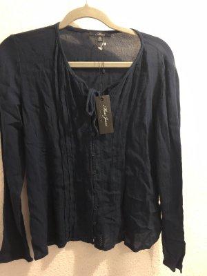Mavi dunkelblaue bluse hemd neu