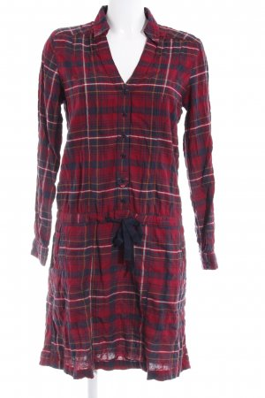 Mavi Shirtwaist dress black-dark red check pattern casual look