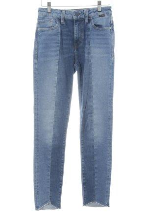 Mavi Jeans taille haute bleuet-bleu acier style décontracté