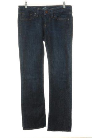 Mavi Pantalon taille basse bleu foncé style décontracté