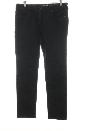 Mavi Pantalon taille basse noir style décontracté