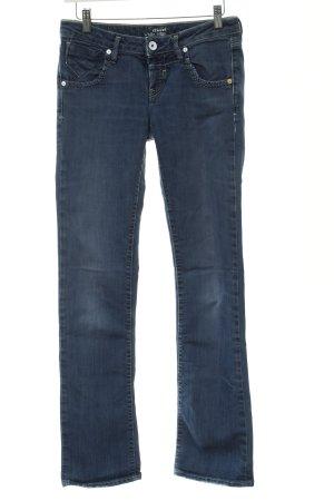 Mavi Low-Rise Trousers steel blue jeans look