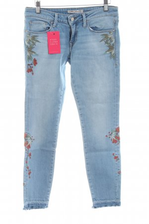 Mavi Jeans Co. 7/8 Length Jeans blue-red flower pattern casual look