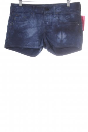 Mavi Jeans Co. Hot Pants neonblau Farbverlauf Bleached-Optik
