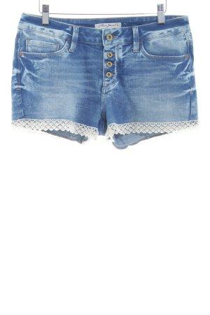 Mavi Jeans Co. Hot Pants stahlblau-wollweiß Casual-Look