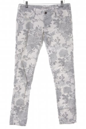 Mavi Jeans Co. Low-Rise Trousers white-pale blue floral pattern