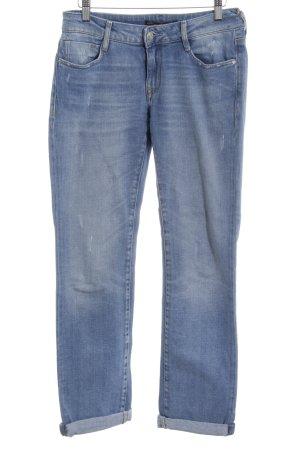 Mavi Jeans Co. Hüftjeans himmelblau Destroy-Optik