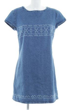 Mavi Jeans Co. Abito denim grigio ardesia puntinato stile casual