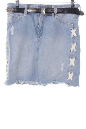 Mavi Jeans Co. Jeansrock hellbeige-himmelblau Casual-Look