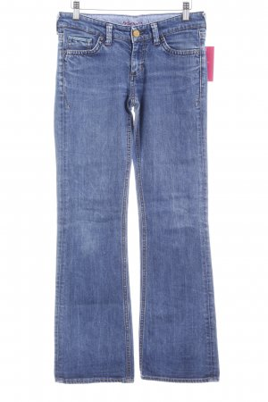 Mavi Jeans Co. Jeansschlaghose stahlblau Casual-Look