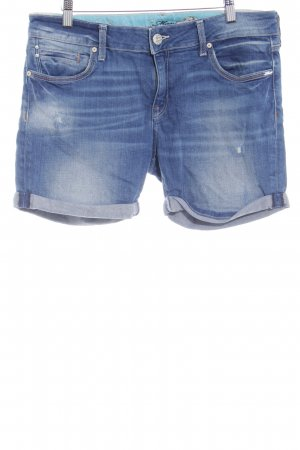 Mavi Jeans Co. Jeansshorts dunkelblau-wollweiß Washed-Optik