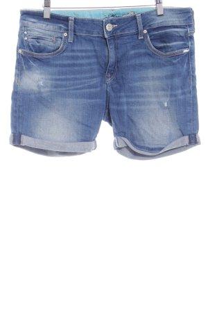 Mavi Jeans Co. Spijkershort donkerblauw-wolwit gewassen uitstraling