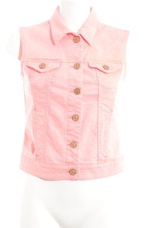 Mavi Jeans Co. Chaleco de tela vaquera rosa look casual